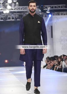 Stylish Waistcoat with Kurta Suits Oslo Norway Man Collection 2018 Punjabi Kurta Pajama Men, Kurta Men, Stylish Waistcoats, Stylish Mens Outfits, Black Waistcoat, Men's Waistcoat, Mens Shalwar Kameez, Pathani Kurta, Men Dress Up