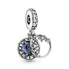 Charms Pandora, Pandora Bracelets, Pandora Jewelry, Silver Bracelets, Charm Jewelry, Pandora Moon, Pandora Christmas Charms, Leather Bracelets, Diy Jewelry