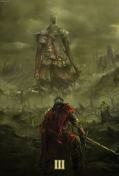 Dark Souls 3 Fan Art Contest Submission, Creditian Istani on ArtStation Dark Souls 3, Arte Dark Souls, Demon's Souls, Dark Fantasy Art, Fantasy Artwork, Dark Art, Fantasy Battle, Fantasy Creatures, Mythical Creatures