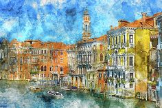 Venice Italy in the Summer by Brandon Bourdages