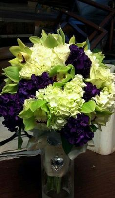 flowers to go with eggplant bridesmaid dresses - Google Search