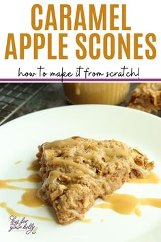 Sweet, and full on fall flavor, these caramel apple scones are the perfect breakfast or with afternoon tea! #sconesrecipe #caramelapplescones #sconesrecipeeasy #applesconesrecipe #applescones Best Brunch Recipes, Apple Recipes Easy, Sweets Recipes, Real Food Recipes, Breakfast Recipes, Breakfast Ideas, Apple Scones, Apple Cinnamon Muffins, Savory Scones