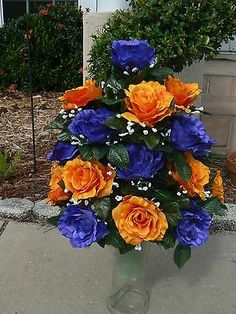 426 best grave flower arrangements images on pinterest in 2018 cemetery vase arrangementmemorial flowers funeral flower arrangements funeral flowers grave flowers mightylinksfo