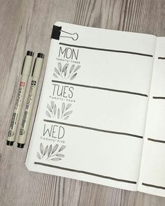 Bullet journal weekly layout, plant drawing, leaf … – - All About Bullet Journal Page, Bullet Journal Weekly Layout, Bullet Journal Notebook, Bullet Journal Spread, Bullet Journal Inspo, Journal Pages, Bullet Journals, Pens For Bullet Journaling, Art Journals