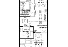 20×40 House Plan 3d Image Result for 20×40 House Plan Projects to Try Pinterest 20x40 House Plans, Affordable Housing, Tiny House, Projects To Try, Floor Plans, House Design, 3d, How To Plan, Bedroom