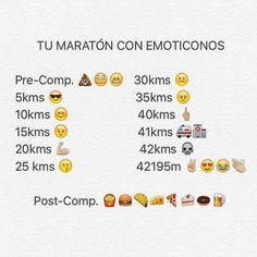 La mejor forma de expresar lo que sentimos cuando hacemos una #maratón! #DespiertayEntrena #Despierta #Entrena #entrenadorpersonal #trainer #correr #carrera #deporte #salud #bienestar #Madrid  #42k #running #runners #humor #emoji