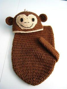 Little Monkey Newborn Baby Cocoon