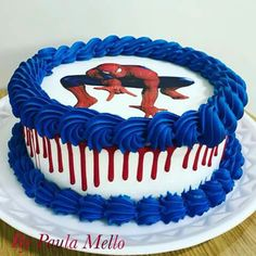 Spiderman Pasta, Spiderman Birthday Cake, Best Birthday Cake Recipe, Hello Kitty Birthday, Specialty Cakes, Cakes For Boys, Wedding Cake Toppers, Party Cakes, Cake Designs