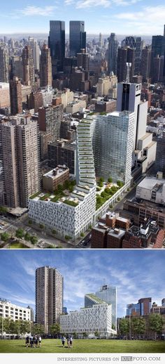 The Mercedes House, New York-Mercedes House is a breakthrough design by architect Enrique Norten that has recast the New York skyline. In his vision, Norten created a zigzag footprint and a silhouette of cascading green roof terraces that allow for unobstructed views of Clinton Park and the Hudson River. It is a game-changer in its interpretation of twisting glass and steel that reveals itself anew from every angle.