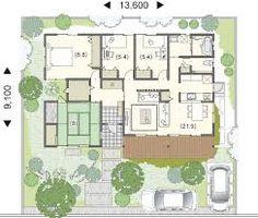「30坪 間取り 平屋」の画像検索結果 Sims House Plans, House Layout Plans, Dream House Plans, House Layouts, House Floor Plans, Japanese Architecture, Architecture Design, Small Japanese House, Exterior Design