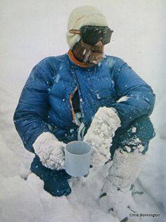 Don Whillans resting on the descent from Annapurna in 1970. Source - The Scottish Mountain Heritage Collection.