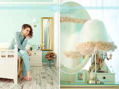 A lovely mint bedroom! <3  (photo taken by http://emmphotography.ro)