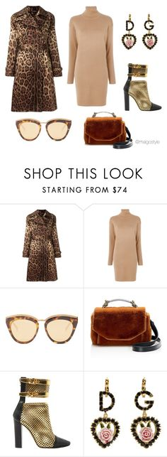 """""""Untitled #53"""" by nerdygets on Polyvore featuring Dolce&Gabbana, MICHAEL Michael Kors, Le Specs, Maje and Balmain"""