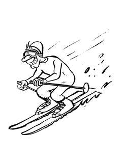 Omalovánky k vytisknutí se zimními sporty - lyžování, koulování, hokej, jízda na snowboardu, sáňkování, krasobruslení a další. Mimo obrázky se zimními sporty najdete také to nejdůležitější, co nesmí žádnému sportovci v mrazivém počasí chybět … Sporty, Boho, Creative, Funny, Bohemian, Bohemia, Bohemian Decorating