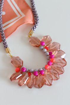 DIY - Crystal Statement Necklace