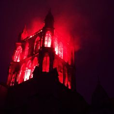 Happy new year from Lausanne #happynewyear #2017 #cathedral #lausanne #switzerland #fire #illumination #newyeareve #vaud