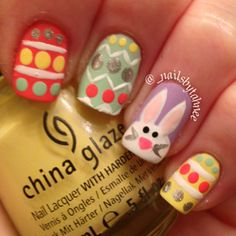 Easter eggs and bunny rabbit nails
