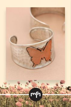 Spirit Animal Butterfly Cuff Bracelet - A shimmering butterfly flutters over this bracelet�s hammered silver band! Butterflies represent freedom and transformation, the hope that you too can burst from your cocoon and fly! Wear this bracelet as a token of Meaningful Jewelry, Hammered Silver, Spirit Animal, Butterflies, Cuff Bracelets, Freedom, Band, Encouragement, India