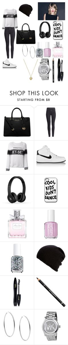 """""""Sans titre #49"""" by rosemie ❤ liked on Polyvore featuring Michael Kors, H&M, Zoe Karssen, NIKE, Christian Dior, Essie, Belmondo, Lancôme and Givenchy"""