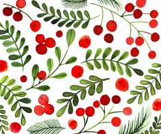 Christmas Berries by © Margaret Berg. www.margaretbergart.com
