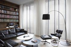 Copahome raamdecoratie houten jaloezieën wit / La décoration de fenêtre. Stores en bois blanc
