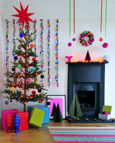 colors. love the fake tree - own that it is fake :)