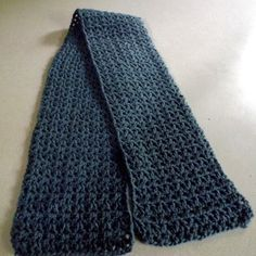 Beginner V-Stitch Crochet Scarf.                                        All Free Crochet