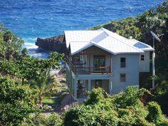 Roatan House Rental  5 BR 5.5 Bath home, salt water pool, 1500s/f travertine terrace, water view