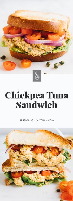 This Chickpea Tuna Sandwich is just like your favourite tuna sandwich, veganised! It's loaded with so much flavour, is perfect for on the go meals and is SO delicious! #vegan #recipes #healthy #plantbased #chickpearecipes #veganrecipes #vegetarian