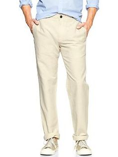 Love these pants for the gents!  Lived-in linen-cotton straight pant   Gap