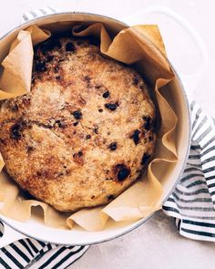 no-knead chocolate walnut bread is a sweet, simple update to a classic Dutch oven bread recipe - and the Le Creuset Dutch Oven gives it a crisp, golden crust and a moist, chewy interior. Scroll/swipe to the next image in this carousel to see the recipe! Dutch Oven Bread, Dutch Oven Recipes, Bread Recipes, Baking Recipes, Knead Bread Recipe, No Knead Bread, Golden Crust, Cabbage Recipes, Le Creuset