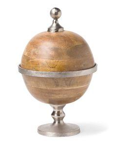 Made In India Akana Mango Wood Globe Box