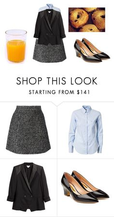 """""""Saw a older woman wearing a outfit like this earlier, classic looking, reminded me of something my grandmother might wear :-)"""" by shycoygirl65 on Polyvore featuring Ermanno Scervino, Morris, Helmut Lang and Rupert Sanderson"""