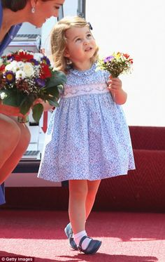 Charlotte was more than happy with her adorable miniature bouquet...