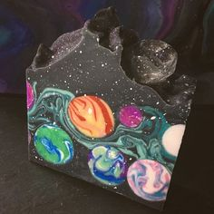 This is the most recent batch of my favorite soap Space Junkie, and I am Lane! Nice to meet you all! Soap Making Recipes, Homemade Soap Recipes, Homemade Cards, Savon Soap, Soap Packaging, Handmade Soaps, Handmade Headbands, Handmade Rugs, Handmade Crafts