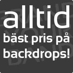 Alla band borde ha en egen backdrop! Sveriges bästa priser på professionella backdrops i brandklassat tyg hittar du på popdrop.se