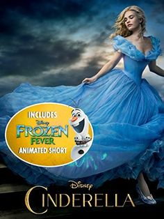 Buy Cinderella and get Disney's Frozen Fever as Bonus from August 25th.  Celebrate Disney's Cinderella, a modern classic that shines with beauty, imagination... and magic! Despite being mistreated by her stepmother (Cate Blanchett) and stepsisters, a spirited Ella (Lily James) resolves to take charge of her fate. Add a royal ball, a Fairy Godmother (Helena Bonham-Carter) and a glass slipper, and suddenly - magic becomes reality!