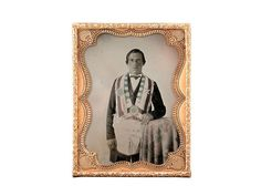 one-fourth plate tintype of a mason, silvered and with - Miller's Antiques & Collectables Price Guide