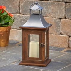 The classical Smart Living Portland Indoor/Outdoor LED Candle Lantern is updated by its LED light. This wooden lantern comes in a rich coffee finish. Led Candles, Candle Lanterns, Candle Sconces, Wooden Lanterns, Led Lantern, Indoor Outdoor, Outdoor Decor, Portland, Wall Lights