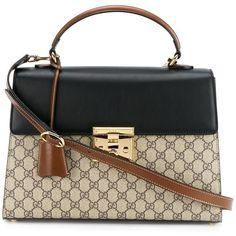Gucci Gucci 'Padlock Gg Supreme' Tote Bag ($2,020) ❤ liked on Polyvore featuring bags, handbags, tote bags, genuine leather tote bag, gucci purses, leather tote, gucci handbags and tote purses