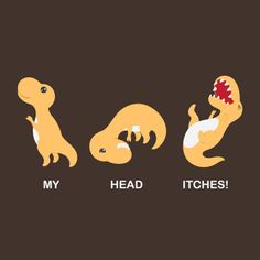 MY HEAD ITCHES! by temperolife.deviantart.com on @deviantART  Poor T-Rex can't scratch his head with stumpy arms