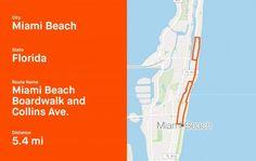Strava Shares Popular Running Routes In Popular Spring Break Destinations Running Magazine, Spring Break Destinations, Beach Boardwalk, Training Plan, Running Workouts, Running Women, Miami Beach, Popular, How To Plan