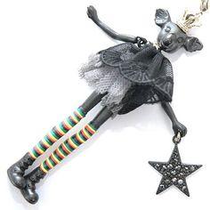 セルバンギャゾットSERVANe gAXOTTE ふんわりレースワンピース王冠黒コアラドール #fashion #fashionstyle #style #ネックレス #大人可愛い #SERVANegAXOTTE #stellar #necklace #paris