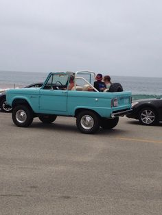 Old Ford Bronco! Restore one and this exact color...Just for fun! My husband wants to do it for me...except give it a lift and bigger tires. :)