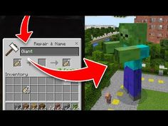 How to Spawn SECRET GIANT MOBS in Minecraft Pocket Edition! (Nametag Addon) - YouTube