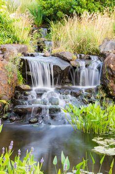 Wasserfall Planen, Wasserfall Bauen, | Wasserfall | Pinterest | Wasserfall,  Geplant Und Gärten