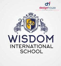 Wisdom International School Logo Design