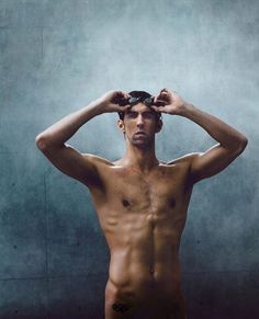 """Michael Phelps - """"I was born this way for a reason. My arms are double-jointed. I have stubby legs - - I'm 6'4"""" and have a 30"""" inseam. But this body has worked in the past and hopefully it will work again."""" - photograph by Carlos Serrao for ESPN The Magazine"""