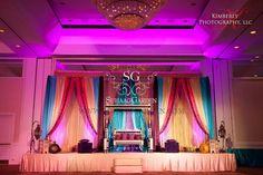 31 Ideas For Wedding Indian Sangeet Stage Decorations Mehndi Stage, Mehendi, Small Centerpieces, Henna Party, Wedding Stage Decorations, Natural Wedding Makeup, Florida, Wedding Bridesmaids, Wedding Designs