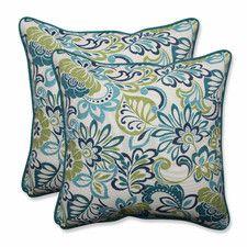 Zoe Mallard Indoor/Outdoor Throw Pillow (Set of 2)